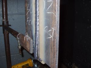 3G FCAW Cap Weld with Slag Covering.
