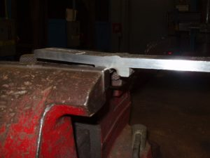 Weld certification backing bar removal