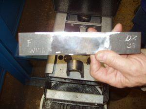 3G SMAW Welding Certification Face Bend Specimen