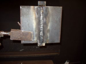 3G SMAW Welding Certification Test Fill Pass Cleaned