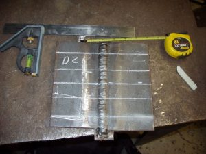 3G SMAW Test Plate Marked Bend