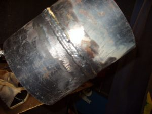 6G Pipe Finished Welding Left Side View 6 to 12 o'clock E7018 Stringer Bead 3 of 3
