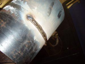 6G Pipe Welding Cap Stringer Bead 1 of 3 E7018 Slag Covering Bottom 6 to 9 o'clock Position