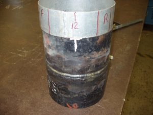 6G Pipe Welding Certification With Template For Marking Test Specimens