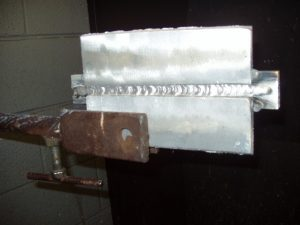 Aluminum MIG Weld done with Argon gas