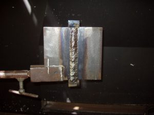 Finished 3G Weld Cap in the Vertical Up Position.