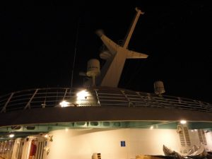 Radar arch on Carnival Spirit