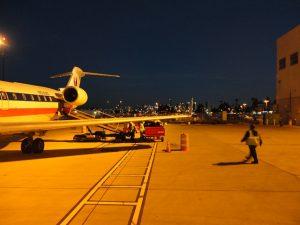 Commuter jet rear
