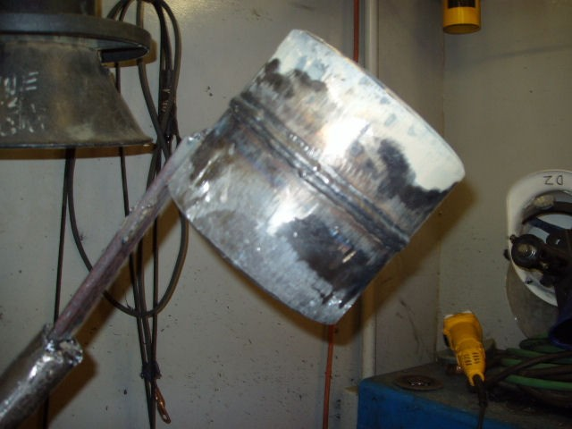completed 6g pipe weld