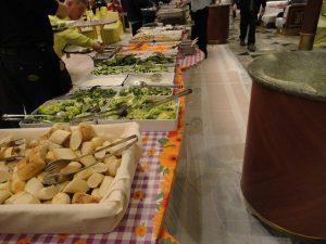 Carnival Spirit salad buffet.