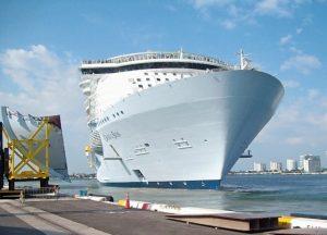 Cruise Ship Addition using FCAW