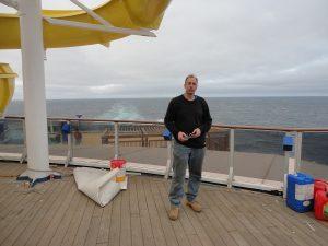 David Zielinski at sea