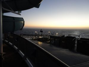Dawn on the Carnival Spirit in the Pacific