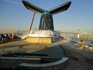 Carnival Spirit deck 11 water park construction beginning