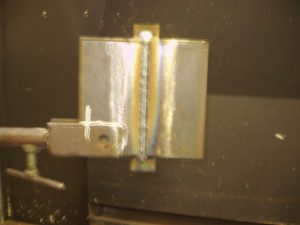 3G Vertical Up Weld Test Second Filler Pass