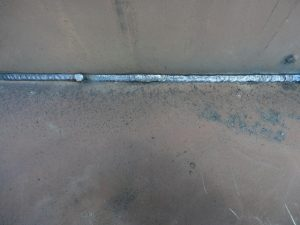Fillet Fluxed Cored Arc Weld using a E71-T electrode and C25 shielding gas in the horizontal position.