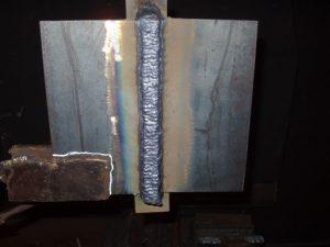 Flux Cored 3G Weld Cap Flux Peeling Front