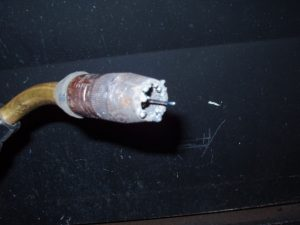 Flux Cored Weld Spatter on Nozzle