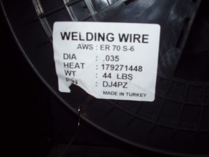 MIG Wire Electrode Label Meaning for a ER70S-6 Label