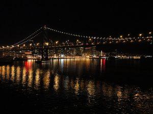 Carnival Spirit approaching the Golden Gate bridge.