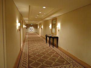 Hilton Hotel hallway Los Angeles