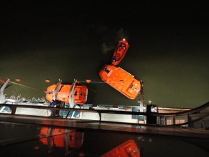Carnival Spirit lifeboats.