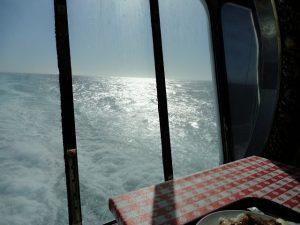 Carnival Spirit rear galley ocean view