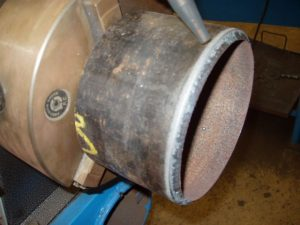 Pipe Coupon in Watts Pipe Beveler Torch Finished Beveling