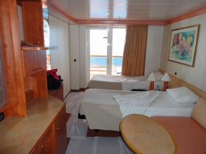 Carnival Spirit Port side cabin deck 5.