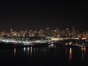 Overlooking the San Francisco skyline