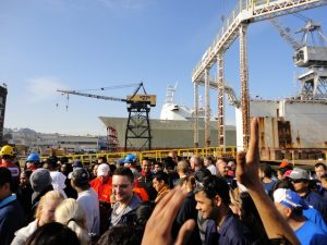 BAE Systems dry dock ship evacuation drill of the Carnival Spirit