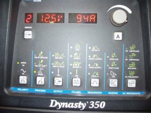 TIG Welder AC Frequency Settings