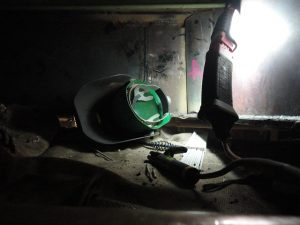 Welding in confined space.