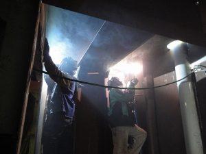 Carnival Spirit water tank construction.
