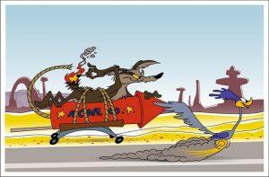 Wile E Coyote Cartoon Argon Gas Bottle Idea