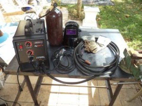 welding equipment set up